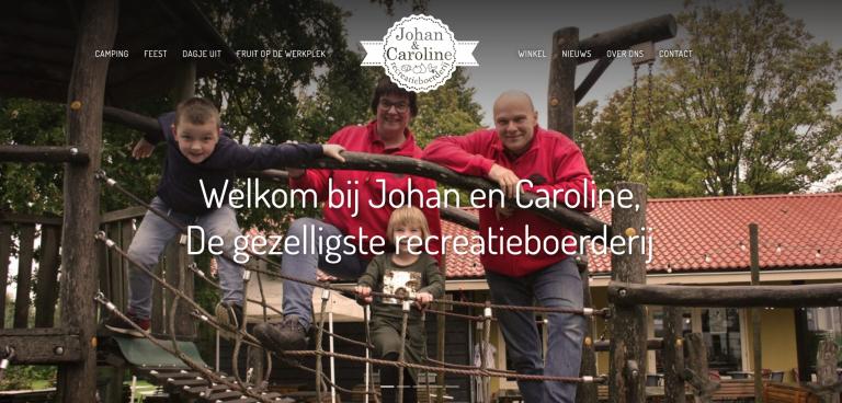 Johan en Caroline nieuwe website